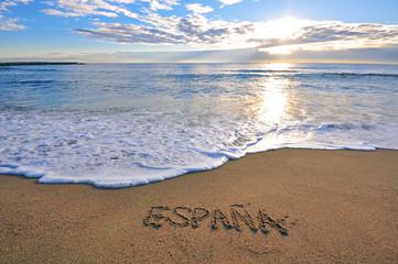 Spanish mediterranean beach
