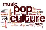 Pop culture word cloud