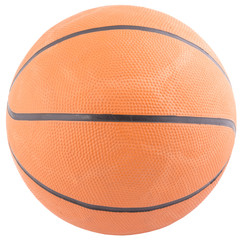 Basketball isolated on a white background as a sports and fitnes