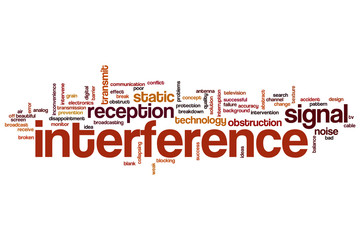 Interference word cloud