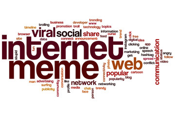 Internet meme word cloud