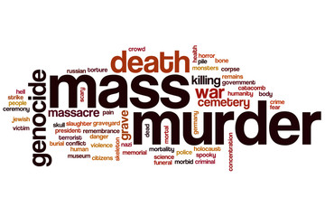 Mass murder word cloud