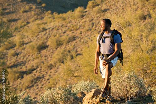 Foto op Plexiglas Alpinisme Desert Trail Hike