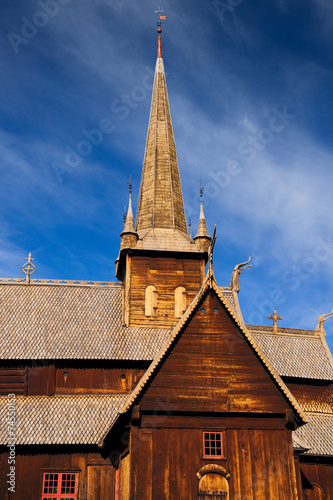canvas print picture Stabkirche Lom
