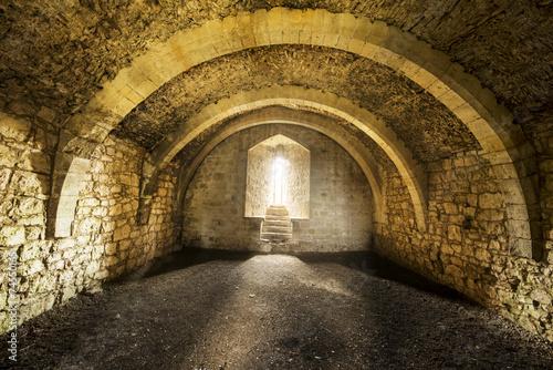 Room inside old castle - 74550165