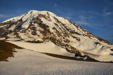 Mt. Rainier & Moon