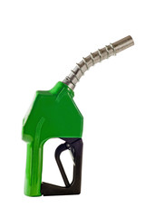 Green Gasoline refueling Nozzle From Fuel Pump