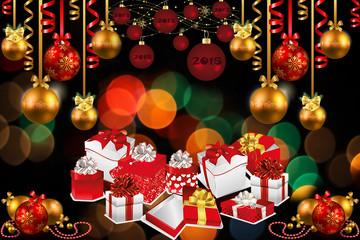 Иллюстрация новогодних подарков
