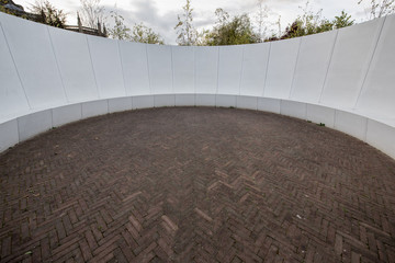 Rounded blank outdoor space
