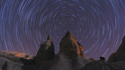 Cappadocia Star trails (Timelapse) ,Turkey