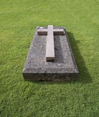 Cross on Grave Stone