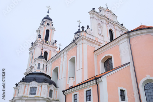 Leinwandbild Motiv VILNIUS,LITHUANIA, November 17, 2014: view of the Vilnius church