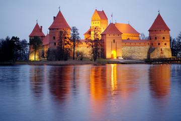 Trakai Castle at night
