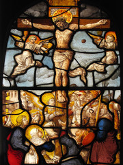 The Crucifixion, stained glass window