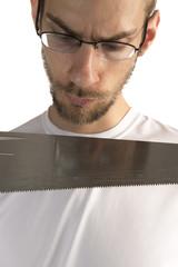 Repair Man With Saw