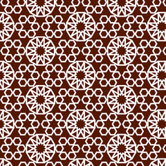 brown moroccan pattern
