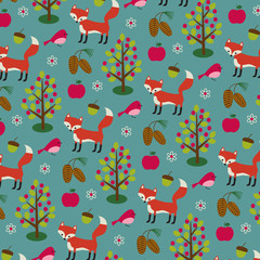 fox and pinecone pattern