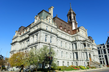Montreal City Hall in old town Montreal, Quebec