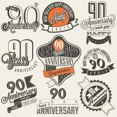Vintage style ninetieth anniversary collection.