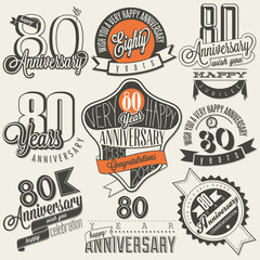 Vintage style 80th anniversary collection.
