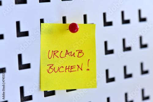 canvas print picture Urlaub, Buchung, Reisebüro, Urlaubsplanung, Tourismus, Notiz