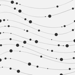 Vector background. Bubbles pattern