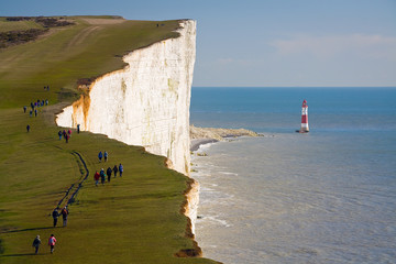 Beachy head lighthouse in East Sussex, UK.