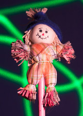 Wooden Clown Green Laser