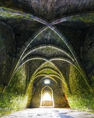 Room inside old castle ruins