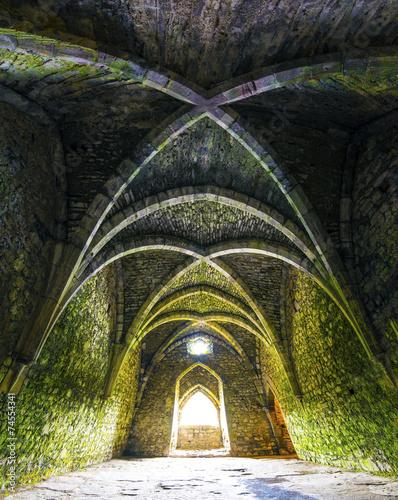 obraz PCV Pokój wewnątrz starych ruin zamku