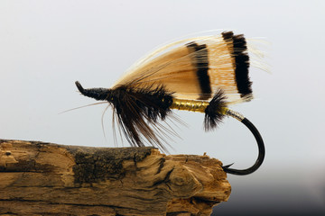 Golden fly fishing lure