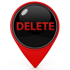 delete pointer icon on white background