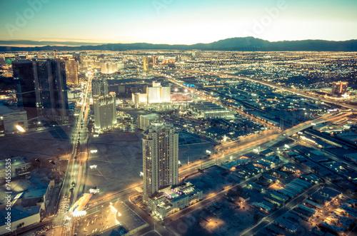 Foto op Canvas Las Vegas Las Vegas cityscape