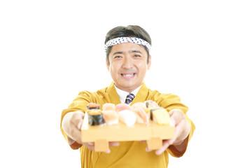 笑顔の料理人