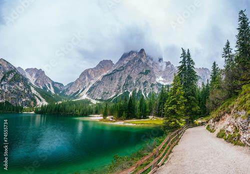 lake between mountains - 74555734