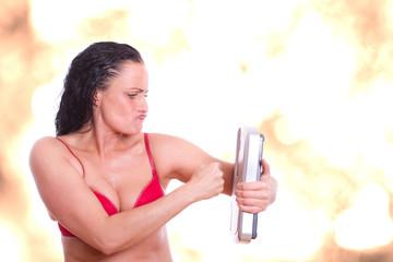 gesunde Ernährung Konzept - die Kampfansage