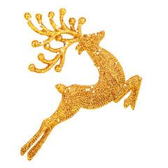 Beautiful golden reindeer decoration