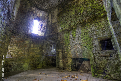 Foto op Aluminium Rudnes Room Ruins in Castle Walls