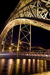 Iron Bridge in Avilés, Spain.