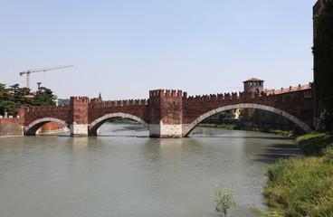 Река Адидже и мост Скалигеров. Верона