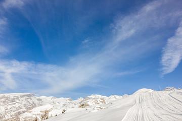 Pista da sci in montagna