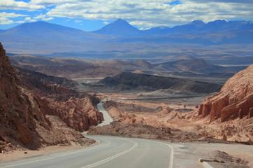 highway near world famous Valley de la Luna