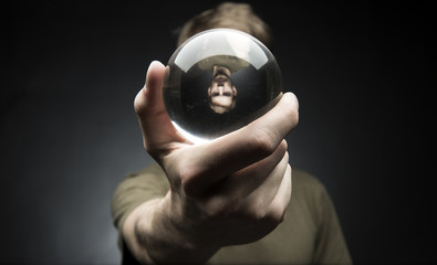 Holding a Crystal Ball