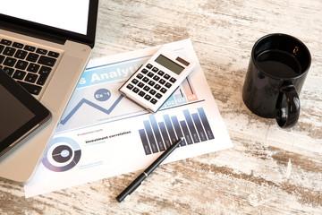 Bilanz im Büro