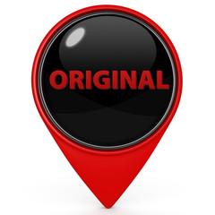 Original pointer icon on white background