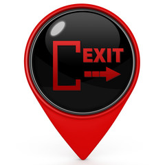 Exit pointer icon on white background