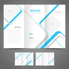 brochure design template stripes