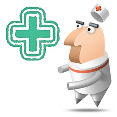 Polygone - Fond Blanc - Médical