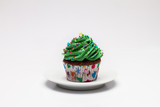 Cupcake. The concept of Christmas baking. Confection poster