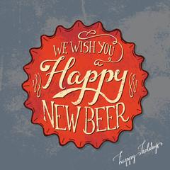 Retro beer bottle cap Poster Design